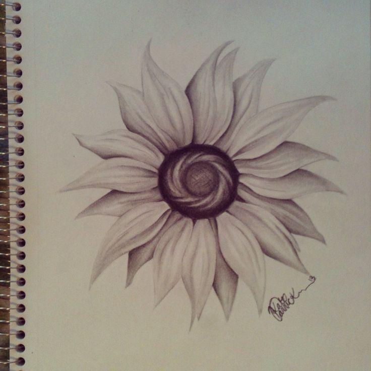 Sun flower. Art by Kate Carrick