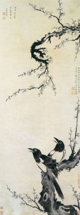 """mujeresartistas: """" Chen Shu (陳書, 1660–1736),  female Chinese painter during the early Qing dynasty. She was born in Xiuzhou (now Jiaxing) and was also known by the courtesy name Nanlou and her literary names """"Shangyuan Dizi"""" and """"Nanlou Laoren""""...."""