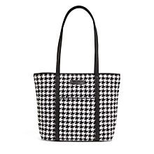 Small Trimmed Vera in Midnight Houndstooth with Black Trim | Vera Bradley