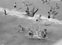 Available at westpix.com.au. Search for WAN-0006247 © WestPix FRED FLOOD COLLECTION: CHILDREN PLAYING AND SWIMMING AT THE BEACH.