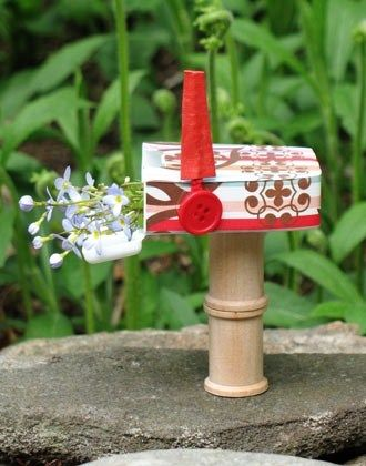 Mini mailbox fairies for Little fairy mailbox