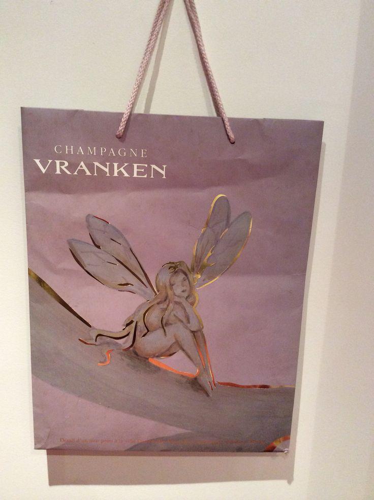 Champagne Vranken : détail d'un mur peint à la villa Demoiselle à Reims