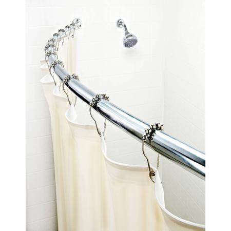 Curved Chrome Shower Rod - Walmart.com