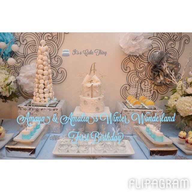 Winter Wonderland sweet table