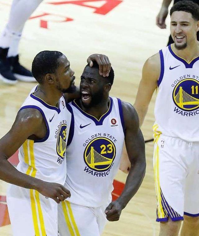 Warriors Race Past Rockets In Game 7 Houston Texas 5 28 18 Golden State Warriors Advanced To Nba Fi Warriors Basketball Team Nba Champions 2018 Nba Champions