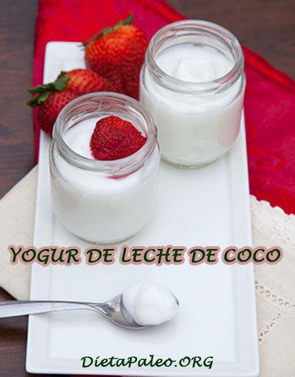 Como hacer yogur casero de leche de coco sin lactosa para la Dieta Paleo.