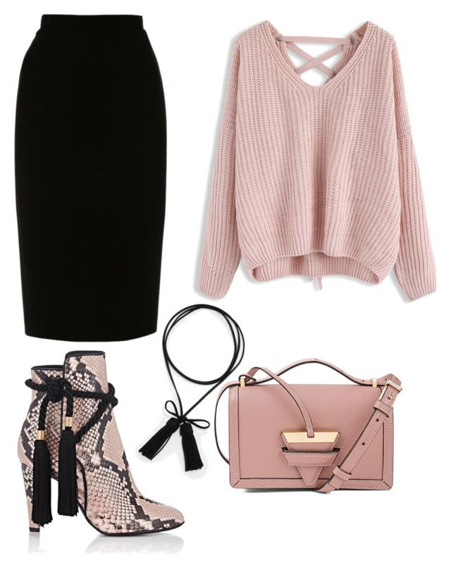 """""""Pencil skirt"""" by amr-a ❤ liked on Polyvore featuring CHARLES & KEITH, Philosophy di Lorenzo Serafini, L.K.Bennett, Chicwish and Loewe"""
