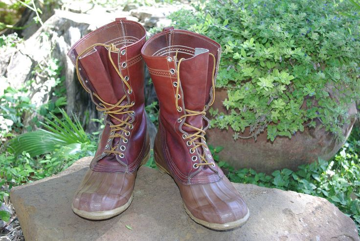 Vintage Hunting Boots by RC Nichols Rare 1950s #RCNicholsConverse #Hunting