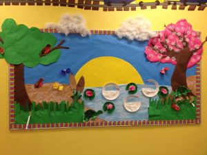 preschool spring bulletin board