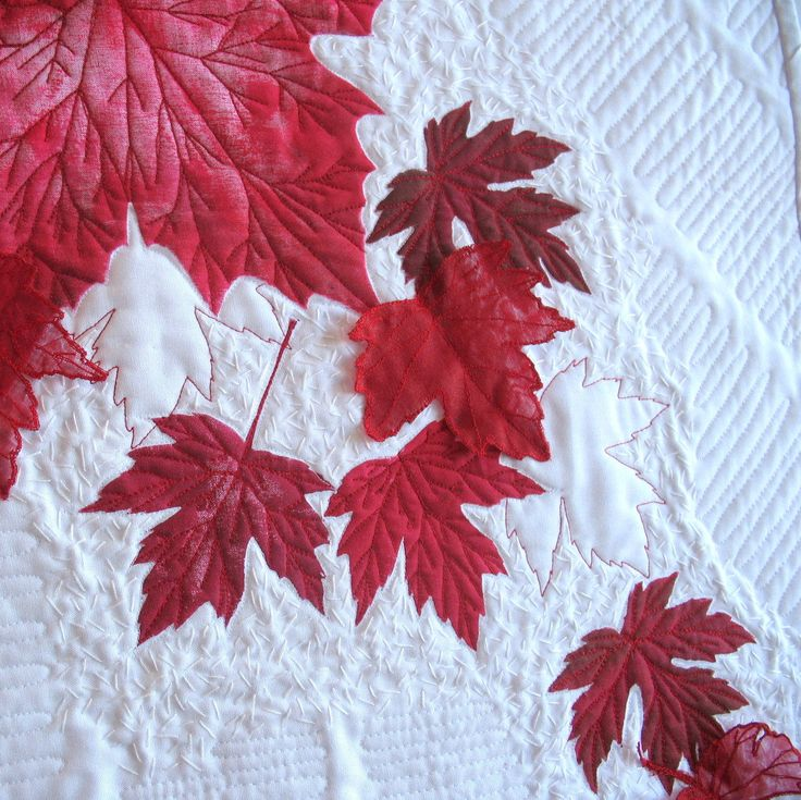Canada 150 Art Quilt Red Maple Leaves by KathyKinsella on Etsy https://www.etsy.com/ca/listing/510167839/canada-150-art-quilt-red-maple-leaves