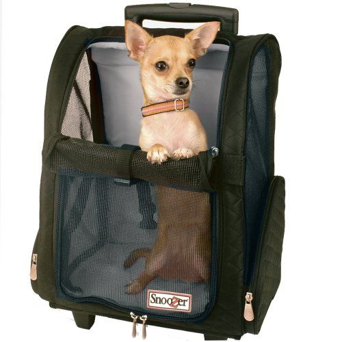 $57.95-$109.95 Snoozer Roll Around 4-in-1 Pet Carrier, Black, Medium - Rolling pet carrier, backpack, bed and car seat all in one. For pets up to 15-pound. http://www.amazon.com/dp/B0012SOUAA/?tag=pin2pet-20