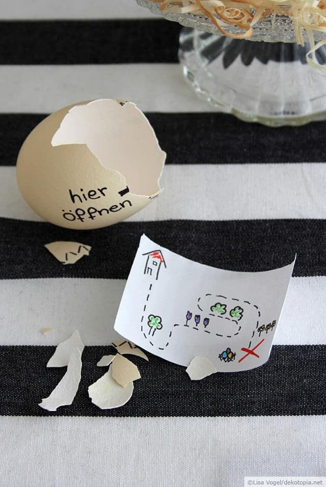 Egg with treasure map