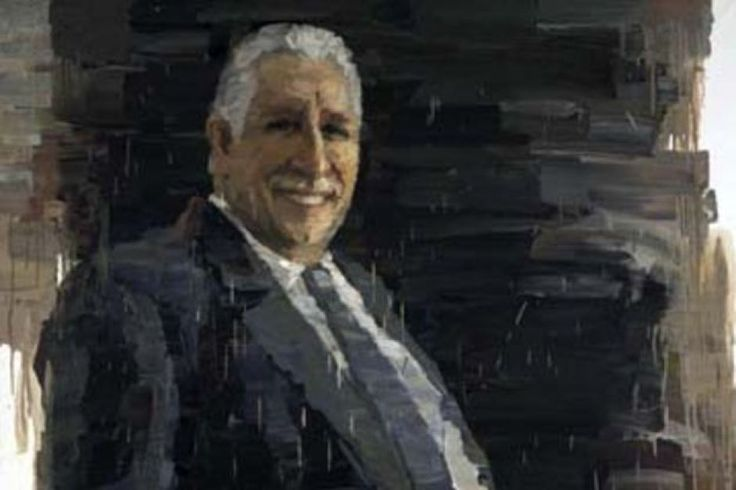 The 2.5m x 1.8m painting by Kordelya Zhansui Chi was a finalist entry in the Archibald Prize 2010 Awards ...