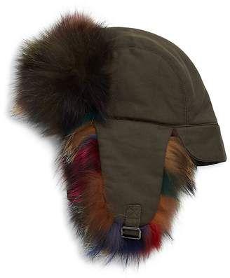 a65b0e2949a56 Annabelle New York Women s Multicolor Fox Fur Trapper  hat  womens ...