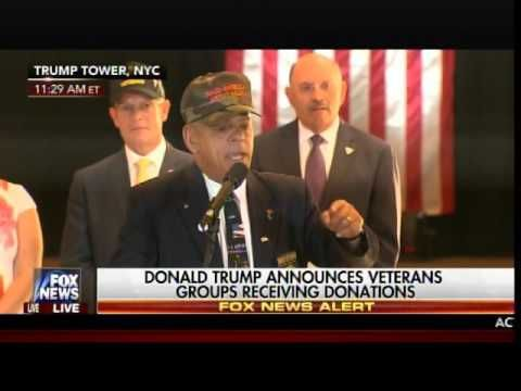 5.31.16 - POWERFUL - Watch New Hampshire Lawmaker and Veteran BLAST Press for Smearing Trump on Veterans Donations (VIDEO)