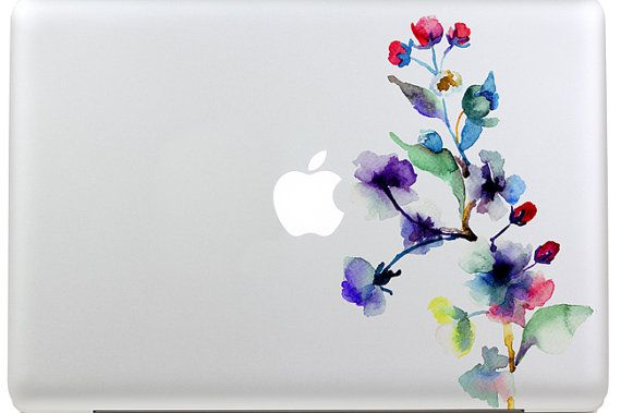 macbook decal mac pro decals Leaf macbook keyboard by MixedDecal