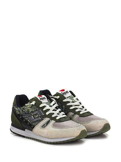 LOTTO LEGGENDA - Sneakers - Uomo - Sneaker in pelle, camoscio e tessuto con suola in gomma. Tacco 30, platform 20 con battuta 10. - GRIGIO\VERDE