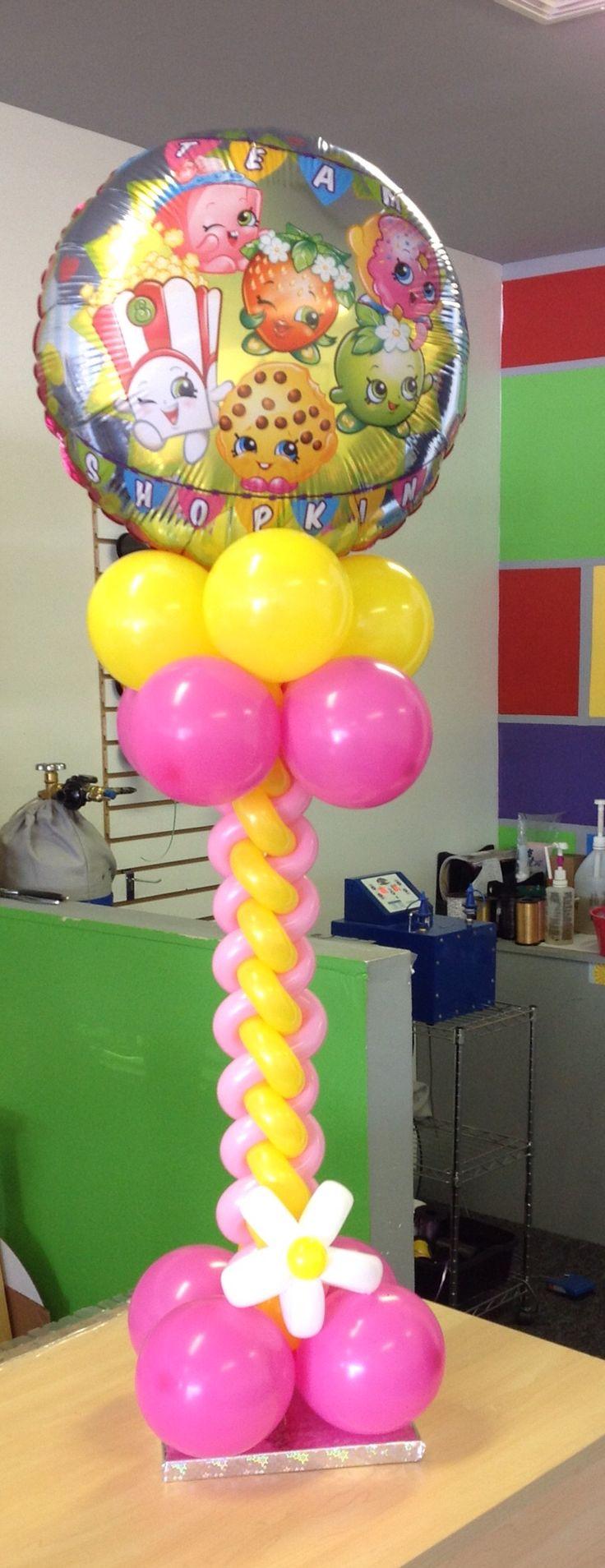 Shopkins tabletop design Balloon DesignsBalloon IdeasBalloon