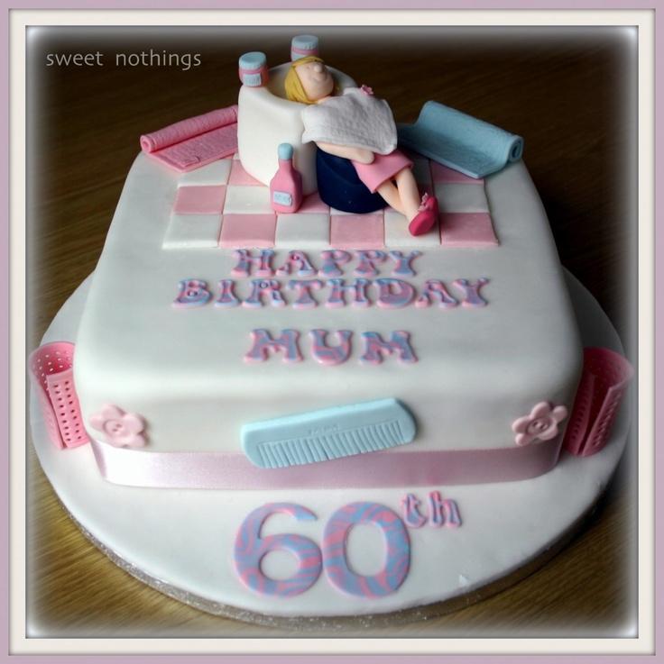 Hair Dresser 60th Birthday Cake
