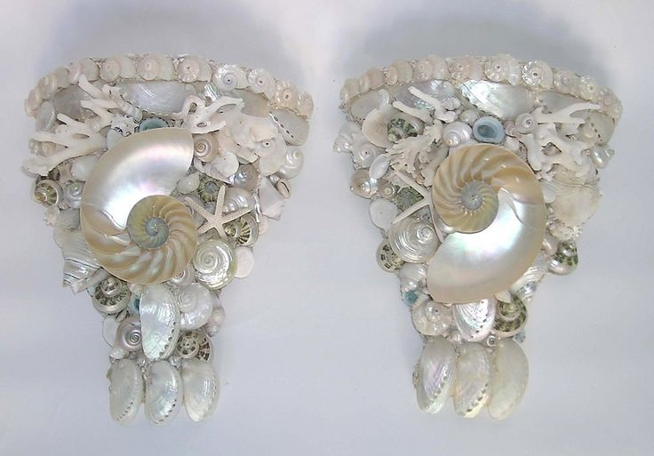 Shell Lighted Sconces,...