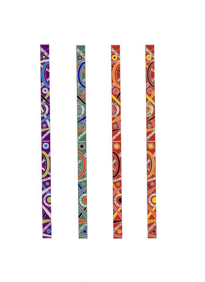 """Специально к ярким летним нарядам дизайнеры Alexander ARNE предлагают еще несколько новых цветовых комбинаций эмали для браслетов в коллекции """"Авангард"""""""