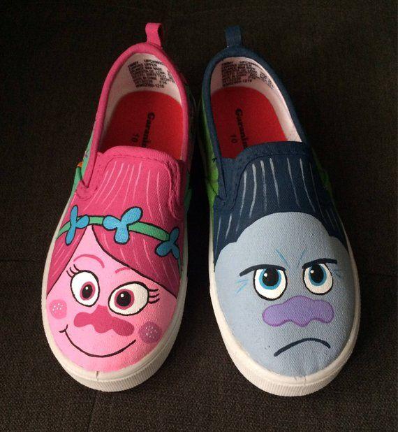 TROLLS VANS shoes hand painted | Sapatos vans, Sapatos