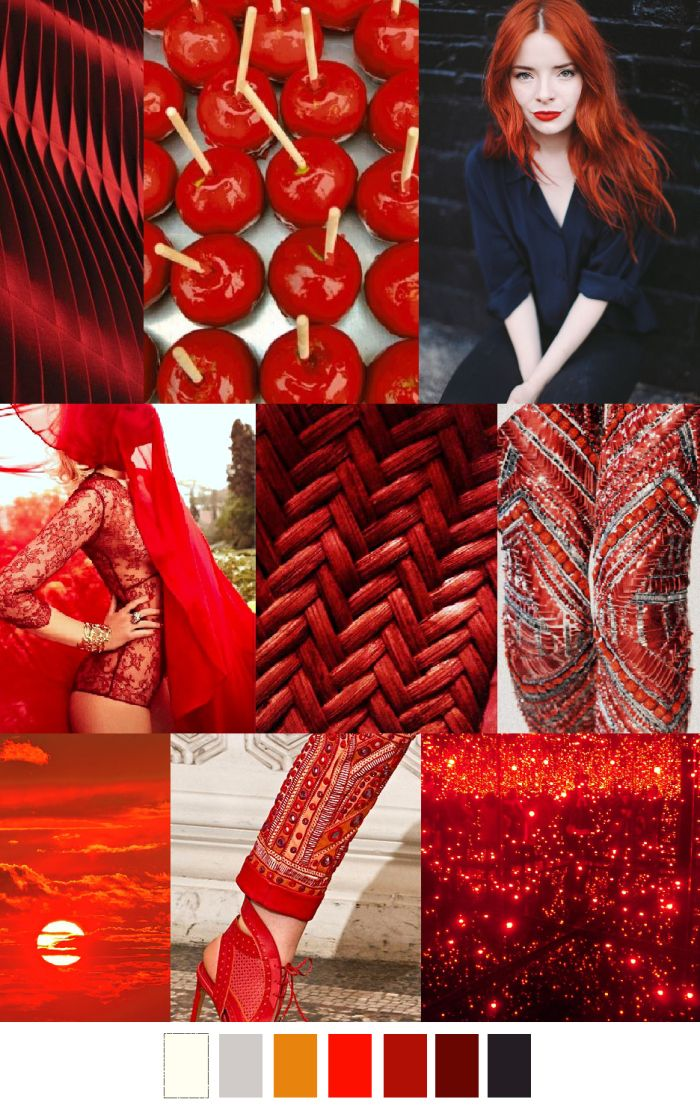 RED HOT | pattern curator, scarlet red that is going to be popular in 2015, inspiration gathered from nature