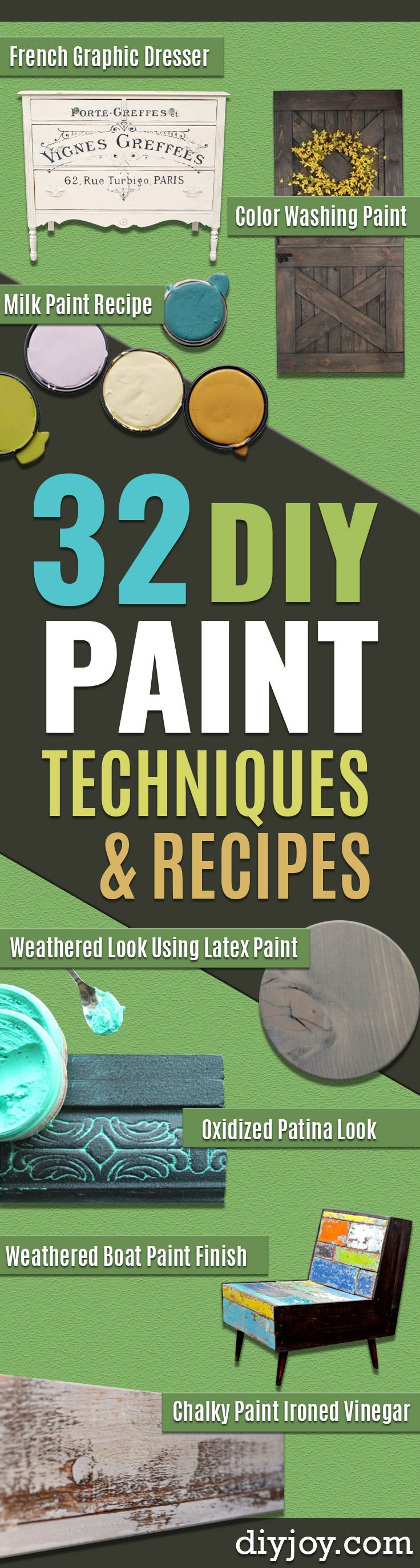 32 DIY Paint Methods And Recipes – Cool Portray Concepts For Partitions And Furnitur…