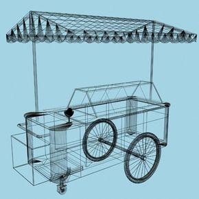 english ice-cream cart 3d model - ice-cream cart.zip... by lumograph