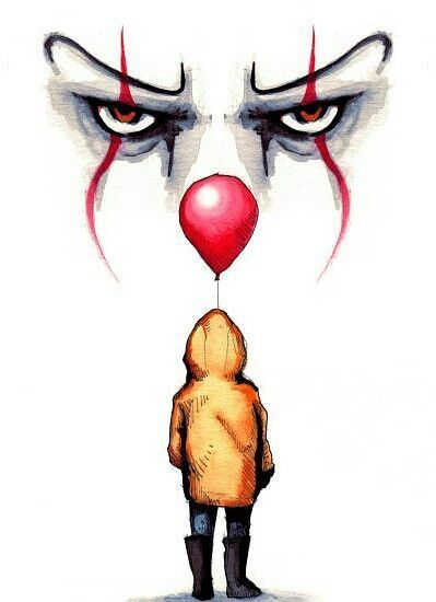 Art Drawings Tumblr – Pennywise drawing by Lera Kiryakova Fan Art t