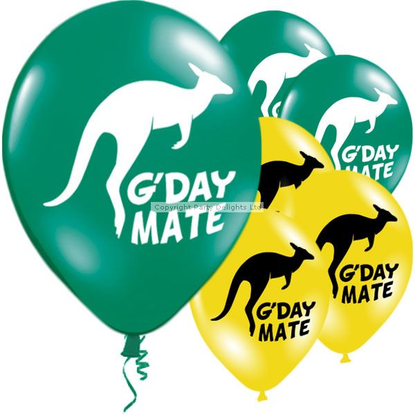 Celebrate Australia Day with our collection of Australian party decorations including these fun g'day mate balloons!