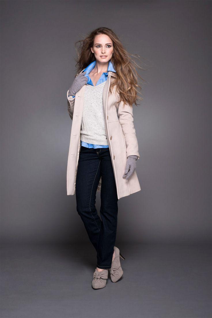 Blusa, sweater con lentejuelas, abrigo & pantalones ajustados! #lineatre #lentejuelas #abrigo