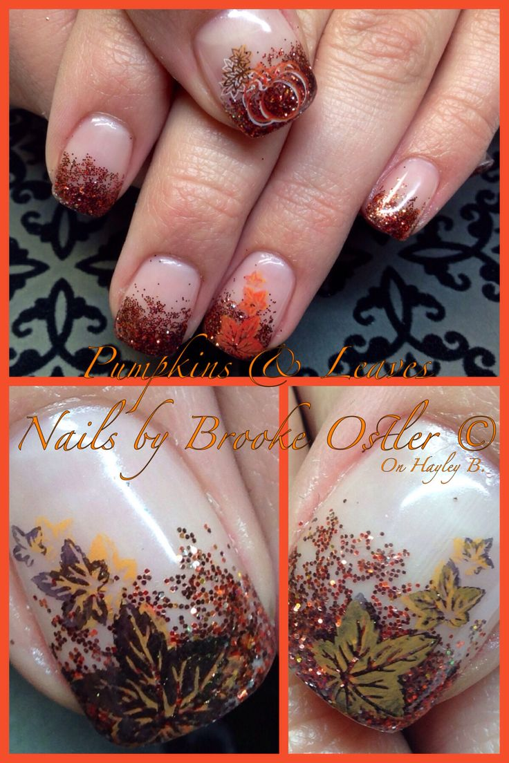 164 best Fall Nails images on Pinterest | Nail scissors, Halloween ...