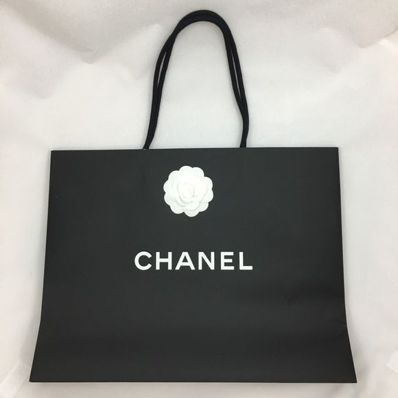 Auth Large Chanel Shopping Bag Camellia Flower Auth Large Chanel