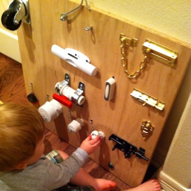Homemade Activity Board Kid Stuff Pinterest