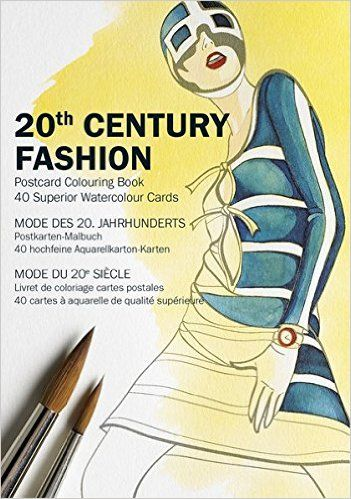 Century Fashion Postcard Colouring Book By Pepin Van Roojen Available At Depository With Free Delivery Worldwide