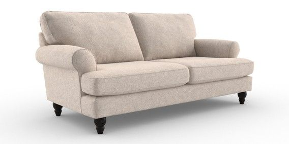 Buy Austell Large Sofa (3 Seats) Tweedy Blend Oyster Low ...