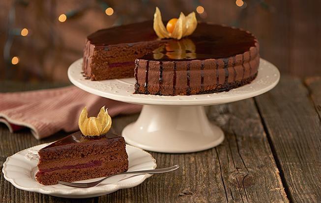 Čokoládovo-malinová torta