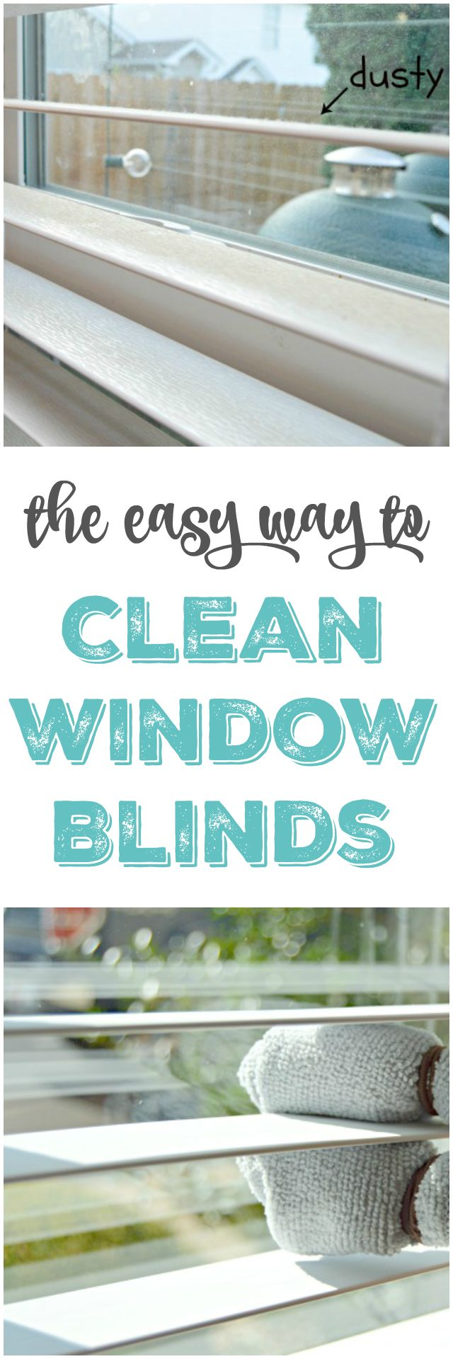 How To Clean Window Blinds. The easy way to clean window blinds with no cleaners at all and without removing them. via @Mom4Real