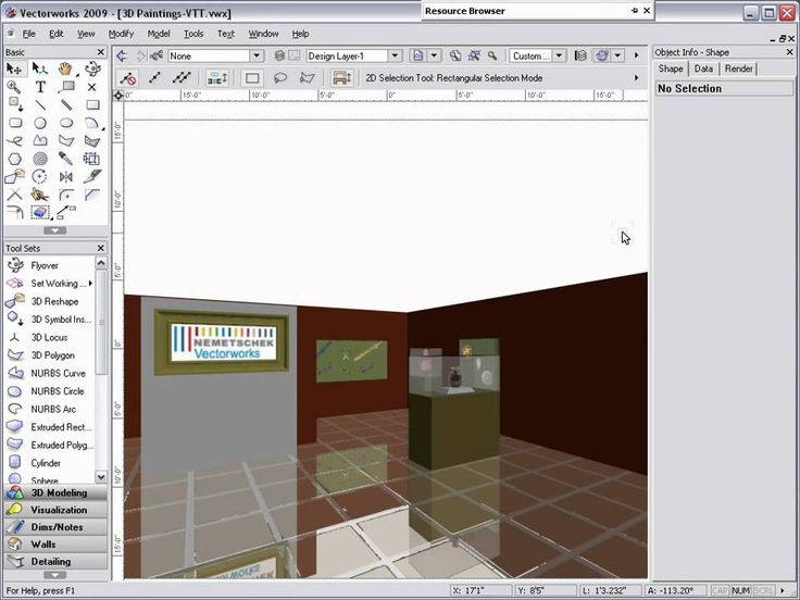 3D Painting in Vectorworks