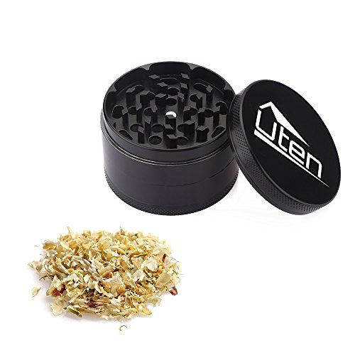Uten 2.5''4-Piece Zinc Alloy Tobacco Spice Weed Herb Grinder with Pollen Catcher //Price: $9.99 & FREE Shipping // #hashtag2