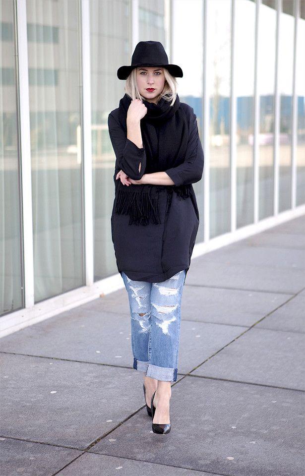 Fashion Hoax - Modström Blouse & Scarf, Current/Elliott Jeans