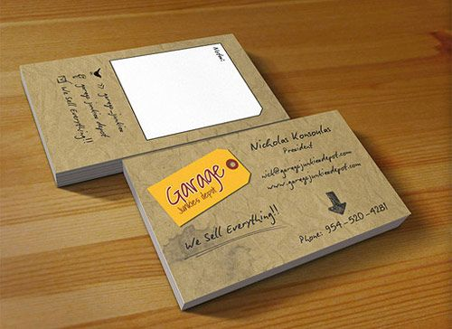 17 garage junkies card in Inspiring Double Sided Business Cards