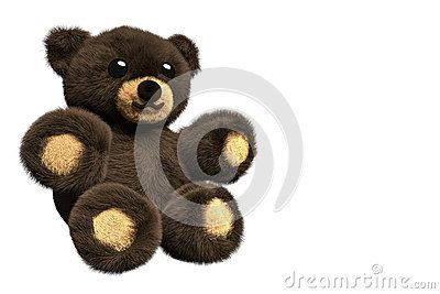 3D Illustration Of A Brown Furry Teddy Bear - Download From Over 61 Million High Quality Stock Photos, Images, Vectors. Sign up for FREE today. Image: 95268957