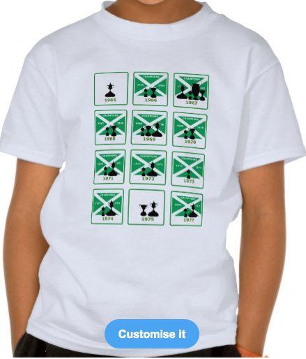 The original 9 in a row Jock Stein tribute t shirt.