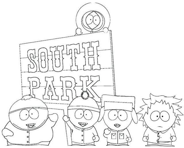 Pin Von Illustration Designer Auf South Park Coloring Pages