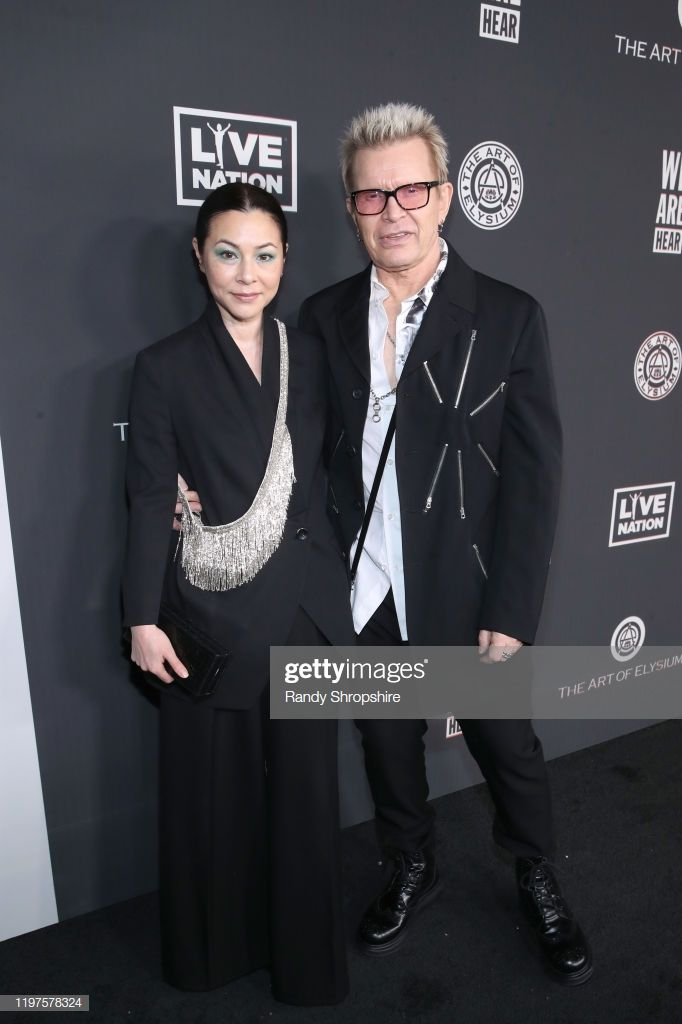 News Photo China Chow And Billy Idol Attend The Art Of In