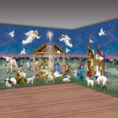 Christmas Bible Story Room Scene Setter Wall Decor Part 56