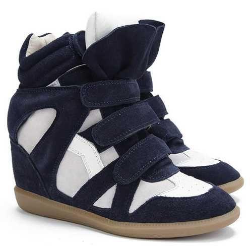 Isabel marant sale - Isabel Marant Bekett High-top Sneakers Navy Beige Suede