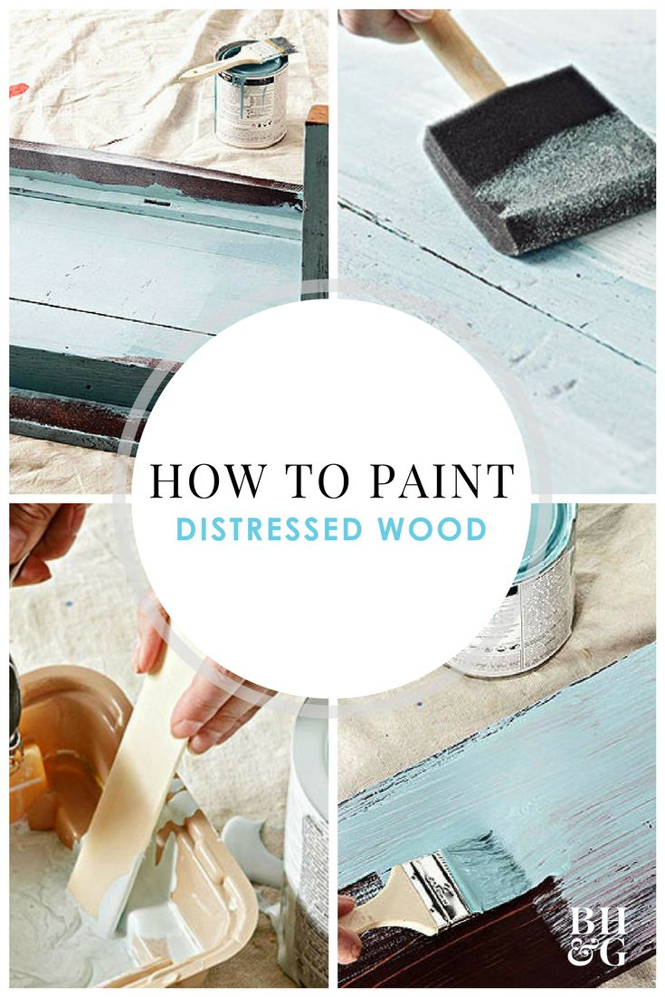 Give that plain wooden coffee table or old piece of furniture a major facelift! Our step-by-step instructions will show you how to flawlessly paint your furniture to give it a distressed, time-worn look. #distressedfurniture #paintedfurniture #diy